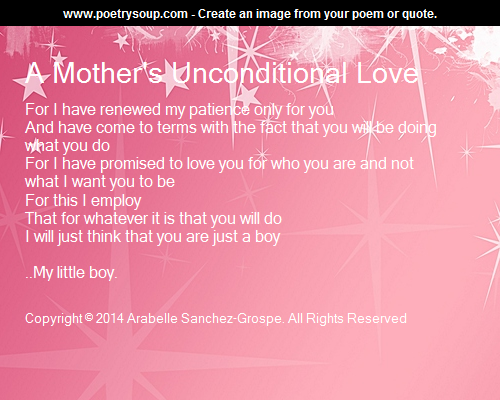 a mothers unconditional love
